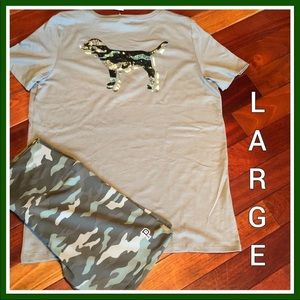 NWT VS PINK LARGE CAMO SET